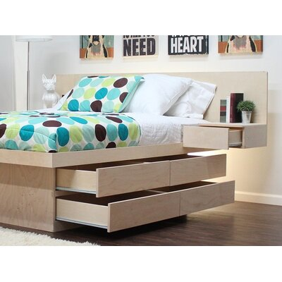 Panel Headboard Color: Natural Teak, Size: Full