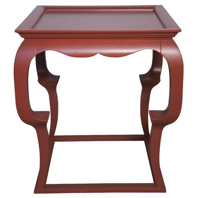Cassio Tray Table Color: Rave Red