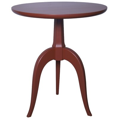 Corin End Table Color: Rave Red