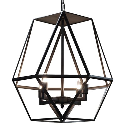 Diamond 4-Light Foyer Pendant Size: Large