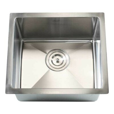 Ariel 17 x 15 Single Bowl Undermount Kitchen Sink