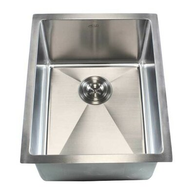 Ariel 16 x 20 Single Bowl Undermount Kitchen Sink