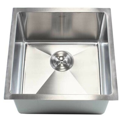 Ariel 18 x 18 Single Bowl Undermount Kitchen Sink