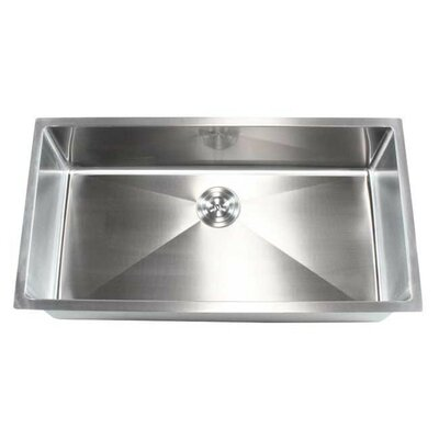 Ariel 36 x 19 Single Bowl Undermount Kitchen Sink