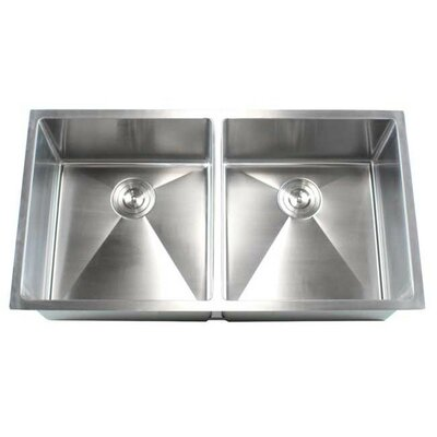 Ariel 37 x 20 Double Bowl Undermount Kitchen Sink