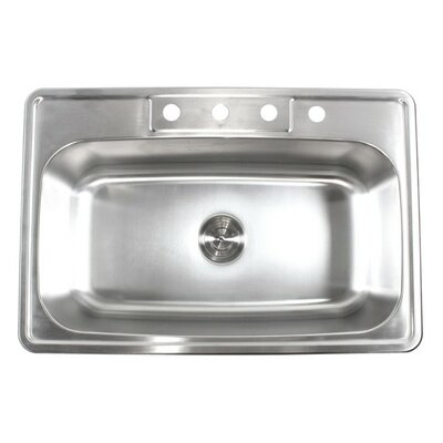 33 x 22 Single Bowl Kitchen Sink