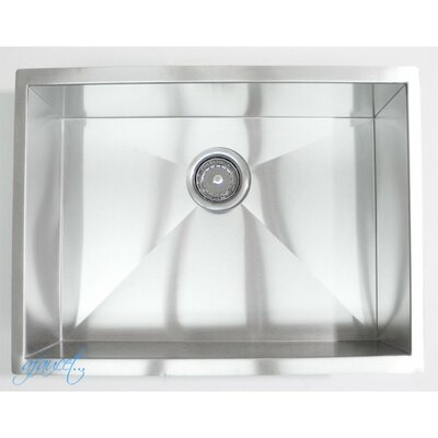23 x 18 Single Bowl Undermount Kitchen Sink