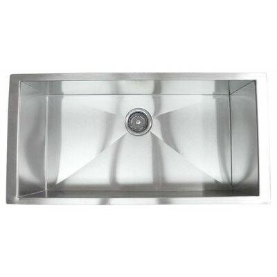 36 x 19 Single Bowl Undermount Kitchen Sink