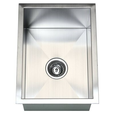 15 x 20 Single Bowl Undermount Kitchen Sink