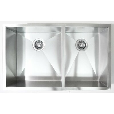 32 x 19 Double Bowl Undermount Kitchen Sink
