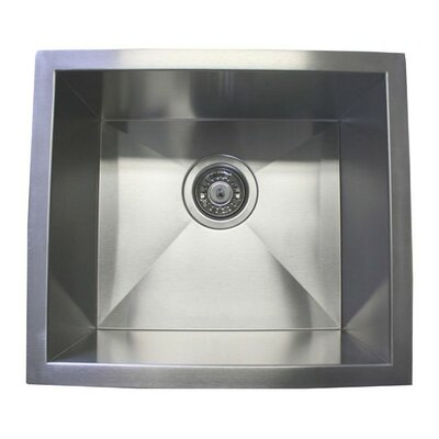 17 x 15 Single Bowl Undermount Kitchen Sink