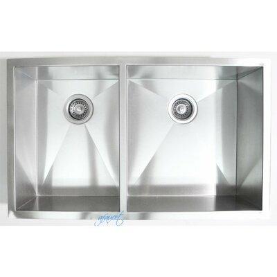 32 x 19 Double Bowl Undermount Kitchen Sink