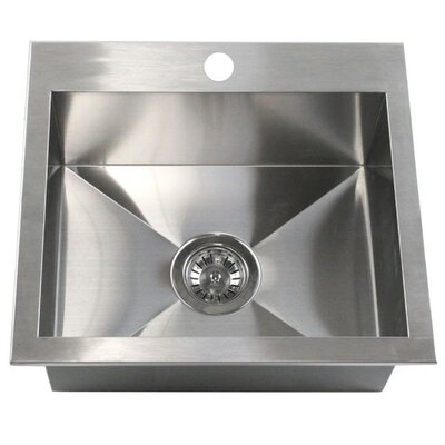 19 x 17 Single Bowl Kitchen Sink