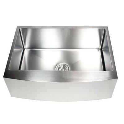 Ariel 30 x 21 Stainless Steel Farmhouse Kitchen Sink