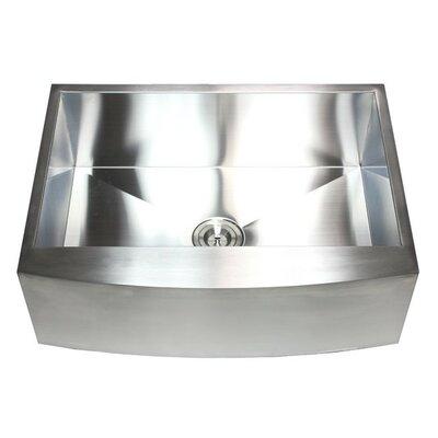 Ariel 30 x 21 Stainless Steel Single Bowl Farmhouse Kitchen Sink