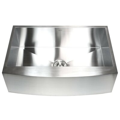 Ariel 33 x 21 Stainless Steel Single Bowl Farmhouse Kitchen Sink