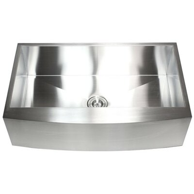 Ariel 36 x 21 Stainless Steel Single Bowl Farmhouse Kitchen Sink