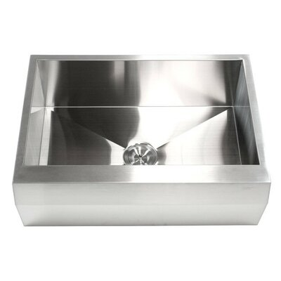 Ariel 30 x 22 Stainless Steel 16 Gauge Single Bowl Farmhouse Kitchen Sink