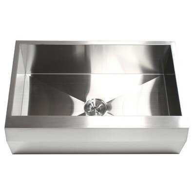 Ariel 33 x 22 Stainless Steel 16 Gauge Single Bowl Farmhouse Kitchen Sink