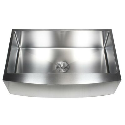 Ariel 36 x 21 Stainless Steel Single Bowl Farmhouse Kitchen Sink