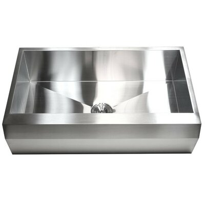 Ariel 36 x 22 Stainless Steel 16 Gauge Single Bowl Farmhouse Kitchen Sink