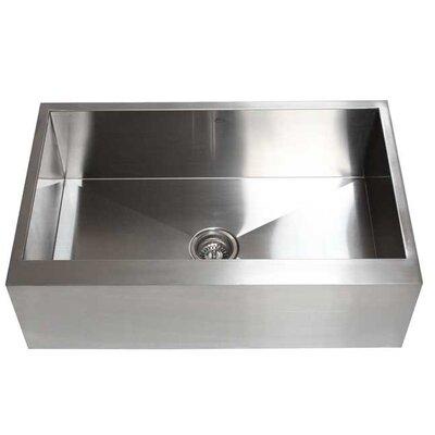 Ariel 33 x 21 Stainless Steel Single Bowl Farmhouse Kitchen Sink
