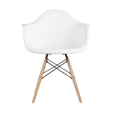 Mid Century Modern Scandinavian Arm Chair Finish: White