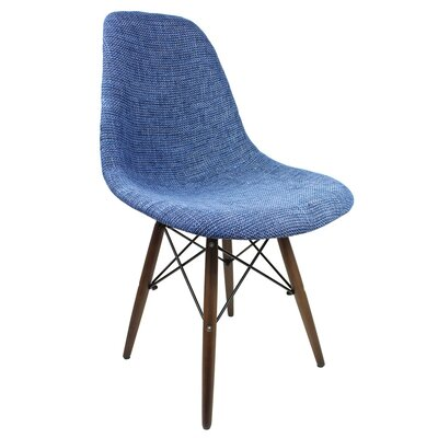Luxe Accent Side Chair Upholstery: Denim, Upholstery: Blue