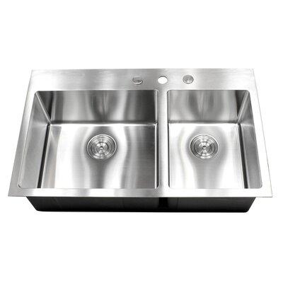 36 x 22 Double Bowl Kitchen Sink