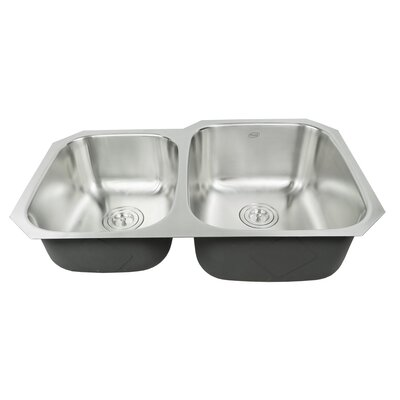 Ariel Pearl 32 x 20.75 Double Bowl Kitchen Sink