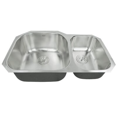Ariel Pearl 31.15 x 20.5 Double Bowl Kitchen Sink