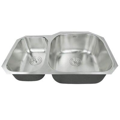 Ariel Pearl 31.5 x 20.5 Double Bowl Kitchen Sink