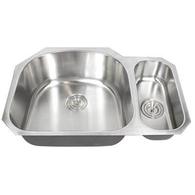 Ariel Pearl 32 x 21 Double Bowl Kitchen Sink