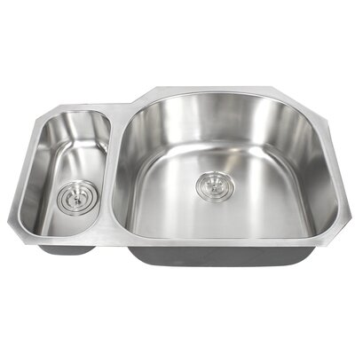 Ariel Pearl 32 x 21 Double Bowl Kitchen Sink