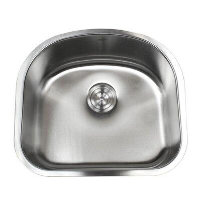Ariel Pearl 23.25 x 20.9 Double Bowl Kitchen Sink