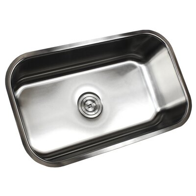 Ariel Pearl 30 x 18.13 Single Bowl Kitchen Sink