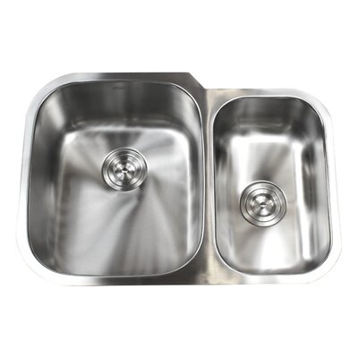 Ariel Pearl 29 x 20.75 Double Bowl Kitchen Sink