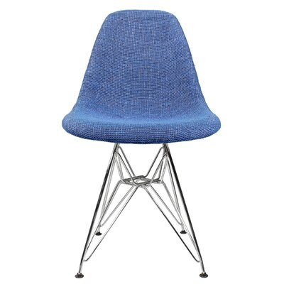 Side Chair Upholstery: Polyester, Upholstery color: Blue