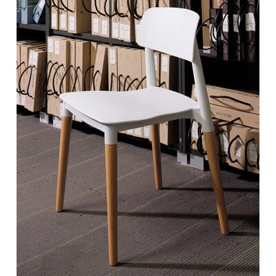 Bel Solid Wood Dining Chair Finish: White