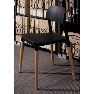 Bel Solid Wood Dining Chair Finish: Black