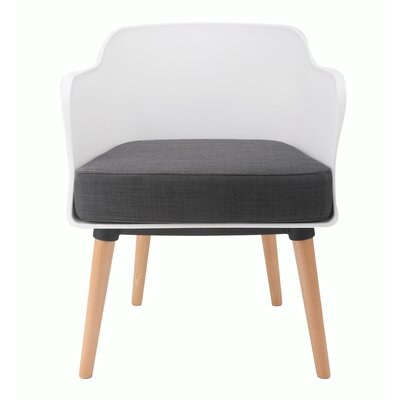 Cali Modern Accent Armchair Upholstery: White / Grey