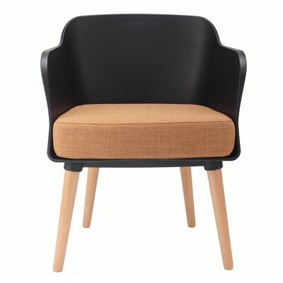 Cali Modern Accent Armchair Upholstery: Black / Tan