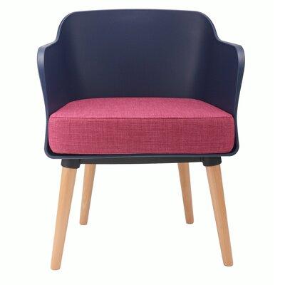 Cali Modern Accent Armchair Upholstery: Dark Blue / Pink