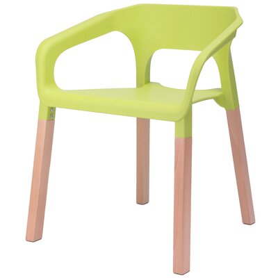 Amy Arm Chair Finish: Green