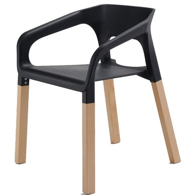 Amy Arm Chair Finish: Black