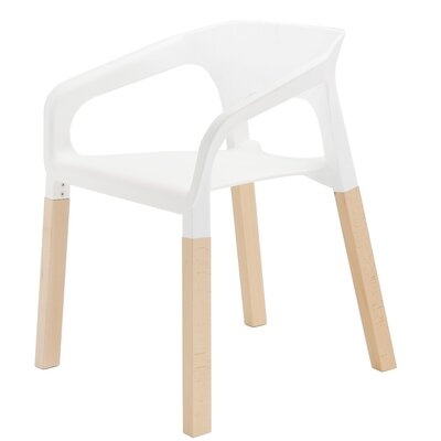 Amy Arm Chair Finish: White