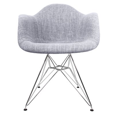 Woven Fabric Armchair Upholstery: Gray