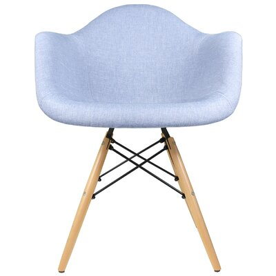 Armchair Finish: Natural Beech, Upholstery: Denim - Blue
