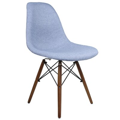Luxe Accent Side Chair Upholstery color: Blue, Upholstery: Denim