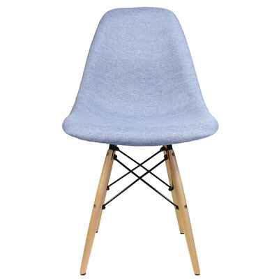 Denim Fabric Side Chair